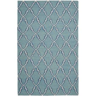 Safavieh Dhurries Light Blue/Ivory Rug DHU564B Rug Size 26 x 4
