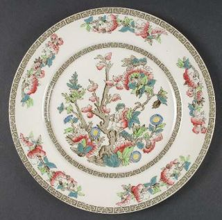 Johnson Brothers Indian Tree (Green Key, Cream) Dinner Plate, Fine China Dinnerw