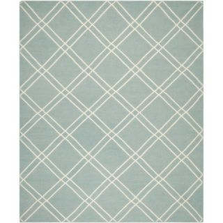 Safavieh Dhurries Light Blue/Ivory Rug DHU638C Rug Size 5 x 8