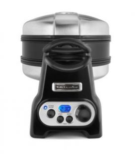 KitchenAid Pro Line Series Belgian Waffle Baker, Bakes 2, Digital, Non Stick, Black