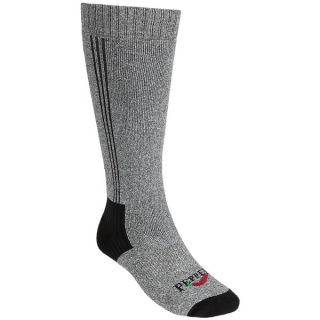 Hot Chillys Pepper Classic Hot Socks   Full Cushion  Heavyweight  Over the Calf (For Men)   BLACK HEATHER/BLACK (XL )