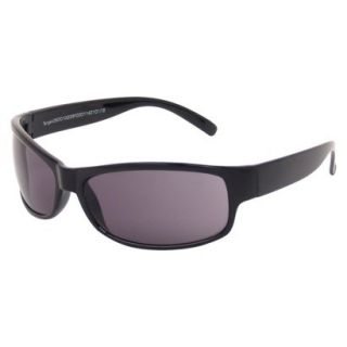 Mens Sport Wraparound Sunglasses   Black