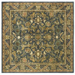 Safavieh Antiquities Majesty Blue/Gold Rug AT52C Rug Size Square 6