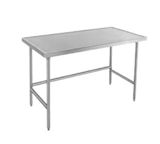 Advance Tabco 144 Work Table   Bullet Feet, Non Drip Edge, 30 W, 14 ga 304 Stainless Top