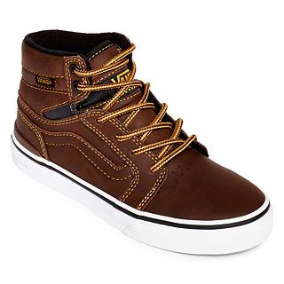 Vans Sanction Boys Skate Shoes, Brown, Boys