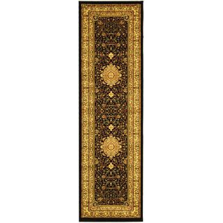 Lyndhurst Collection Mashad Black/ Ivory Runner (23 X 16)