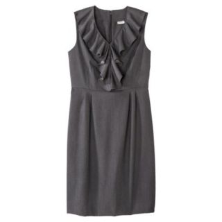 Merona Petites Sleeveless Sheath Dress   Gray 8P