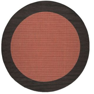 Couristan Recife Checkered Field Terra Cotta Rug 1005 4000 Rug Size Round 86