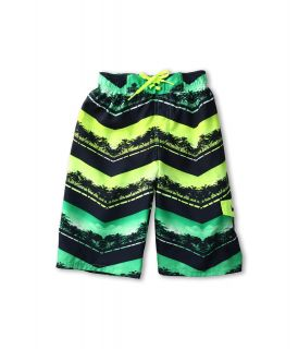 Nike Kids Chevron Palm Volley Short Boys Swimwear (Green)