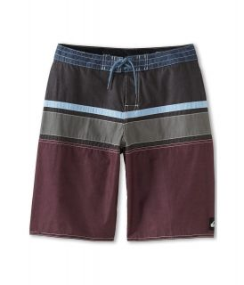 Quiksilver Kids Panel Stripe Boardshort Boys Swimwear (Black)