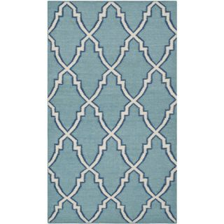Safavieh Dhurries Light Blue/Ivory Rug DHU564B Rug Size 3 x 5