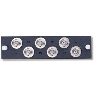 Leviton 5F100BNC BNC Mounting plate, 6Port, Loaded