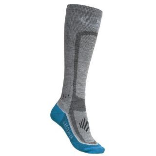 Icebreaker GT Ski Lite Socks   Merino Wool  Over the Calf (For Women)   OIL/SILVER/BLACK (S )