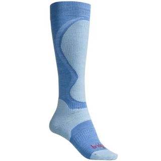 Bridgedale Merino Wool Ski Socks   Lightweight (For Women)   LIGHT BLUE / BLUE (S )