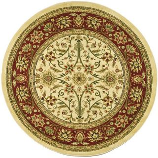 Lyndhurst Collection Majestic Ivory/ Red Rug (53 Round)