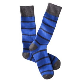 Merona Mens 1pk Dress Socks   Assorted Stripes