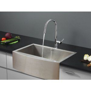 Ruvati RVC2422 Combo Stainless Steel Kitchen Sink and Chrome Faucet Set