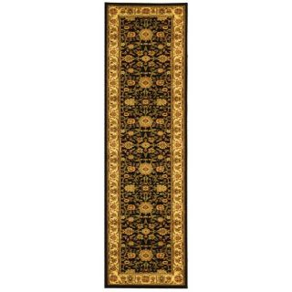Lyndhurst Collection Majestic Black/ Ivory Runner (23 X 6)