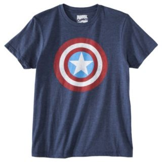 Captain America Shield Mens Graphic Tee   Academy Blue S