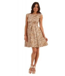 Kate Spade New York Natural Tromp Loeil Mariella Dress Womens Dress (Tan)