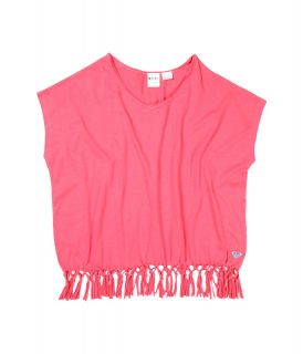 Roxy Kids Brighten Up Top Girls Short Sleeve Pullover (Pink)