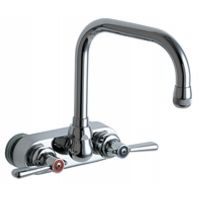 Chicago Faucets 521 CP Universal Wall Mounted Sink Faucet