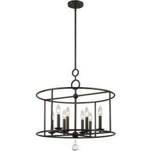 Crystorama Lighting CRY 9166 EB Cameron Cameron 8 Light Wrought Iron Chandelier