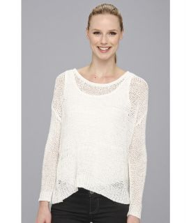 Karen Kane Long Sleeve Crew Neck Sweater Womens Sweater (White)