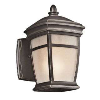 Kichler 49270RZ Outdoor Light, Transitional Wall 1 Light Fixture Rubbed Bronze