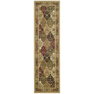 Lyndhurst Collection Multicolor/ Beige Runner (23 X 6)