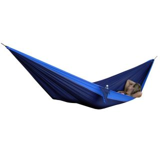 Grand Trunk Single Parachute Nylon Hammock Navy / Light Blue   SH 02