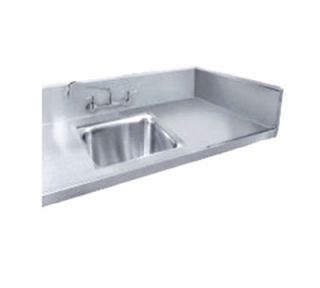 Advance Tabco Sink Welded Into Table Top, 10x14x10