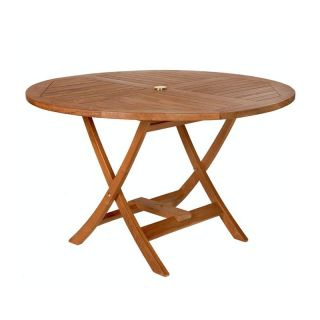 All Things Cedar Teak Round Folding Table Multicolor   TR48