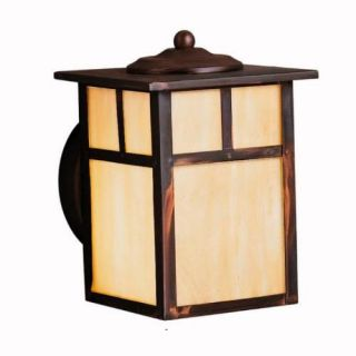 Kichler 9649CV Outdoor Light, Arts and Crafts/Mission Wall 1 Light Fixture Canyon View