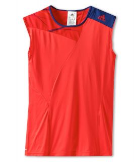 adidas Kids Girls Adizero Cap Sleeve Girls Sleeveless (Red)