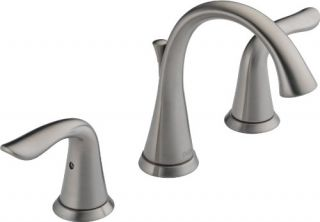Delta 3538 Bathroom Faucet, Lahara TwoHandle Widespread Chrome