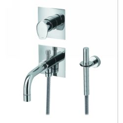 Whitehaus G9938 BN Gyro Wall Mount Bath/Shower Mixer and Handheld Shower