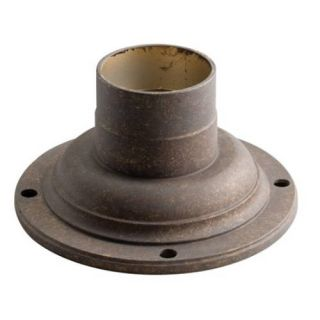 Kichler 9530TZG Outdoor Light, Utilitarian Accessory Pedestal Adaptor Fixture Olde Bronze