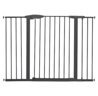 Munchkin Easy Close Metal Safety Gate Extra Tall & Wide   Dark Grey