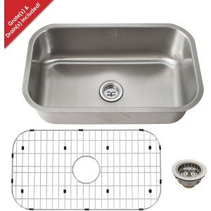 Schon SCSB301818 Premium Heavy Duty 18 Gauge 304 Stainless Steel Kitchen Sink