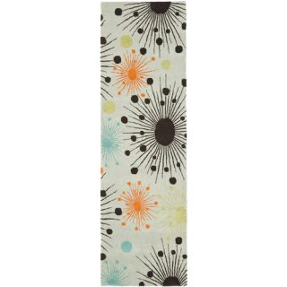 Safavieh Soho Light Blue/Multi Rug SOH747C Rug Size Runner 26 x 8