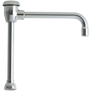Chicago Faucets GN8BVBJKABCP Universal 8 in. Solid Brass Rigid/Swing Gooseneck S