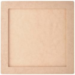 Kaisercraft Beyond The Page Mdf Square Frame (Press boardPackage includes one (1) frameInside dimensions 8 inches high x 8 inches wide x .125 inches deepOutside dimensions 10 inches high x 10 inches wide x .25 inches deepImported)