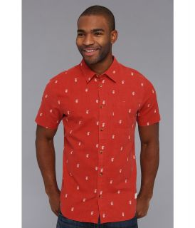 Rip Curl Pineapple Express S/S Mens Short Sleeve Button Up (Red)