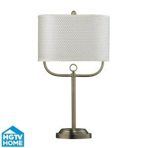 Dimond Lighting DMD HGTV256BR Universal Double Armed Table Lamp