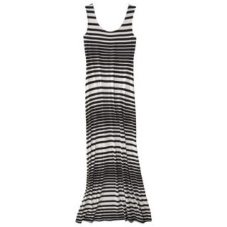 Merona Petites Sleeveless Maxi Dress   Black/Cream XSP