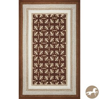 Christopher Knight Home Mocha Tiles Area Rug (76 X 96)