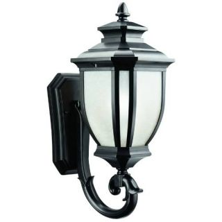 Kichler 9041BK Outdoor Light, Transitional Wall Mount 1 Light Fixture Black (Painted)