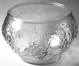 Indiana Glass Celebration Punch Bowl   Punch Set, Grape/Leaves, Clear