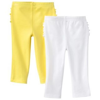 Just One YouMade by Carters Newborn Girls 2 Pack Pant   Yellow/White NB
